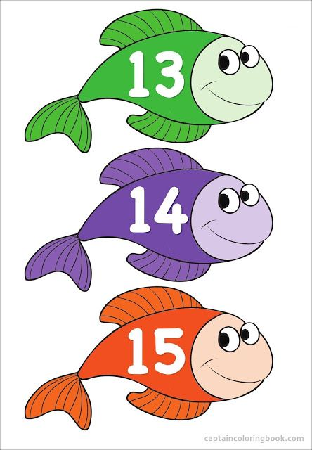Coloring Page Preschool Fish Number Chart Pdf Download Numbers Preschool Preschool Preschool Charts