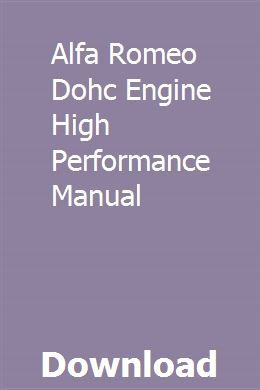 Alfa Romeo Dohc Engine High Performance Manual Chemistry Notes Chemistry Paper Chemistry