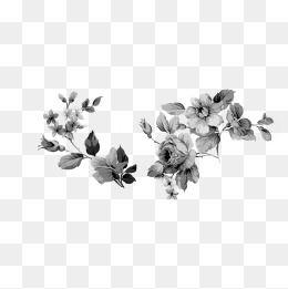 Retro Flower Pattern Black And White Dark Lines Flower Pattern Black White Dark Lines Vintage Floral Design Retro Flowers Floral Design