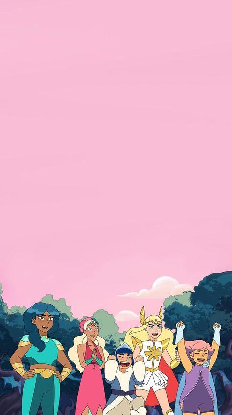she-ra and the princesses lockscreen in 2021 | She ra, She ra princess of power, She-ra wallpaper