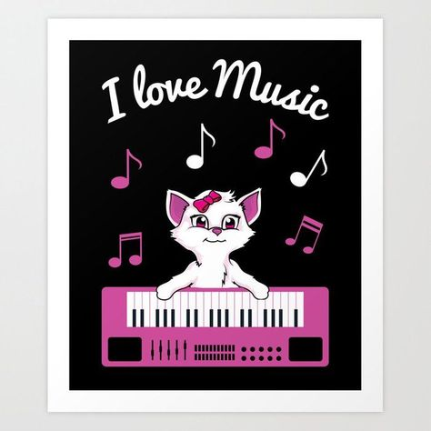 Keyboard Cat I Love Music Piano Instrument Player Gift Art Print by abstractarts -  Keyboard Cat I Love Music Piano Instrument Player Gift Art PrintKeyboard Cat I Love Music Piano Ins - #abstractarts #Art #Cat #gift #Instrument #keyboard #keyboardart #keyboarddesign #keyboardplayer #Love #mechanicalkeyboard #Music #Piano #Player #print