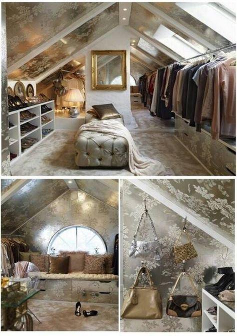 Kleiderzimmer Style At Home Wohnen Schrank Im Dachgeschoss