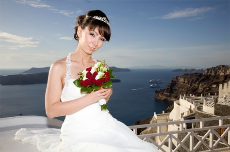 Bridal tiara #headpiece #wedding #Santorini