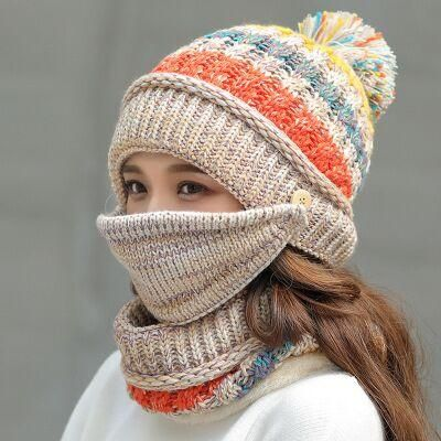 Winter Hat And Scarf Sets For Women Beige In 2021 Knitted Hats Winter Knit Hats Ear Flap Hats