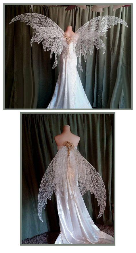 Fairy Wedding Wings ~London McKnight - Fairy Wedding Wings ~London McKnight Source by Royogirl - Fantasy Costumes, Cosplay Costumes, Fairy Costumes, Pretty Dresses, Beautiful Dresses, Beautiful Dream, Fantasy Gowns, Fantasy Clothes, Fantasy Hair