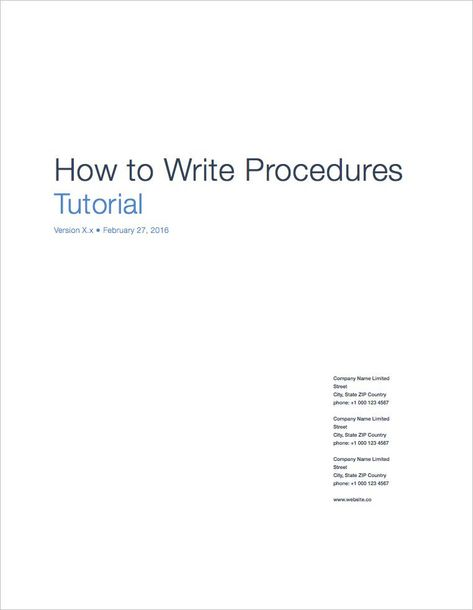 SOP-Template-Apple-iWork-Pages-Tutorial SOP Pinterest - how to write a standard operating procedure