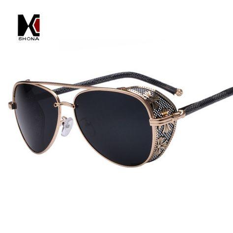Gothic Steam Punk Glasses Vintage Summer Women Men Steampunk Sunglasses UV400
