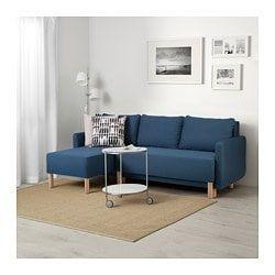 Bennebol Rozkładana Sofa 3 Osobowa Z Szezlongiem Niebieski