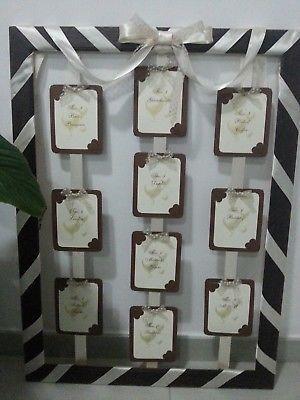 Segnaposto Matrimonio Ebay.Tableau Tema Ciococlato Segnaposti Matrimonio Wedding Sposa