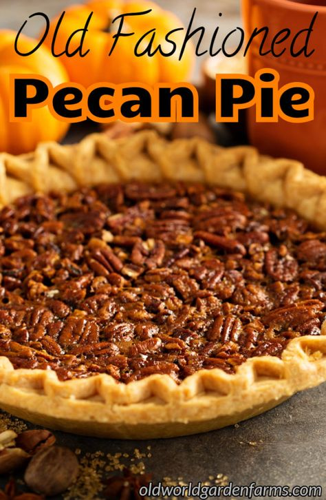 Old Fashioned Homemade Pecan Pie recipe. Make this decadent dessert with little … Old fashioned homemade pecan pie recipe. Make this decadent dessert with little effort! Old Fashioned Pecan Pie Recipe, Best Pecan Pie Recipe, Homemade Pecan Pie, Southern Pecan Pie Recipe, Simple Pecan Pie Recipe, Peacon Pie Recipe, Pecan Pie Recipe Without Corn Syrup, Old Fashioned Recipes, Köstliche Desserts