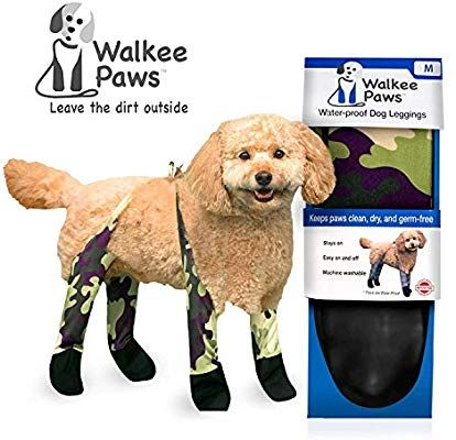 Amazon Com Walkee Paws Waterproof Dog Leggings Keep Your Dog S Clean Dry Without The Hassle Of Boots Camouflage Medium Pet Supplies ペット