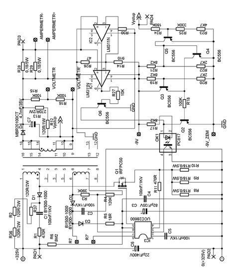 Adjustable Smps Laboratory Power Supply Ucc28600 0 30v 5a Ucc28600 Adjustable Smps Circuit Schematic Power Supply Circuit Power Supply Electronic Schematics