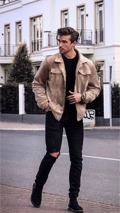Men's Outfits mens fashion outfit ideas to impress any girl mens Men's Outfits. Here is Men's Outfits for you. Men's Outfits 31 mens style outfits every guy should look at for. Outfits Hombre Casual, Stylish Mens Outfits, Best Winter Outfits Men, Cool Outfits For Men, Stylish Man, Men Looks, Best Casual Shirts, Herren Winter, Moda Blog