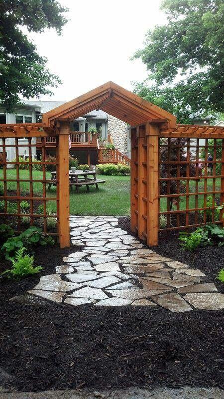 Gartenasthetik Gartenlaubeideen Ihrer Vervollstandigung Zur 13 Gartenlaube Ideen Zur 13 Gart Backyard Landscaping Backyard Garden Landscape Design