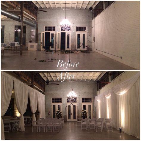 #copperpress  #ceremony #drape #boydsevents #weddings #uplighting #party #reception