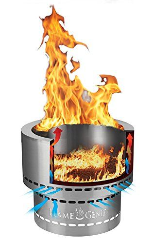 Hy C Flame Genie Fg 16 Wood Pellet Fire Pit Review Flamegenie Firepit Fireplacelab Fire Pit Wood Pellets Fire Pit Materials
