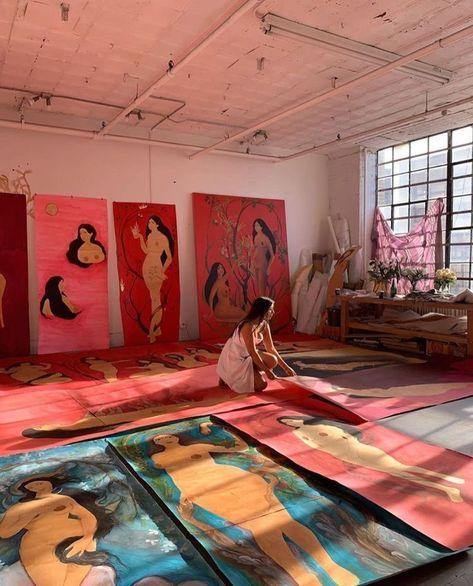 Painting Inspiration, Art Inspo, Illustrations, Illustration Art, Arte Peculiar, Kunst Inspo, Art Hoe Aesthetic, Dream Art, Art Studios