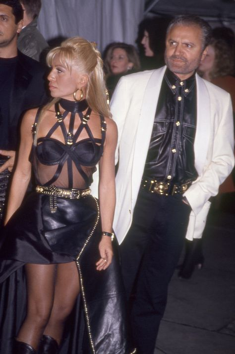 Donatella and Gianni Versace at the Met Gala 1996