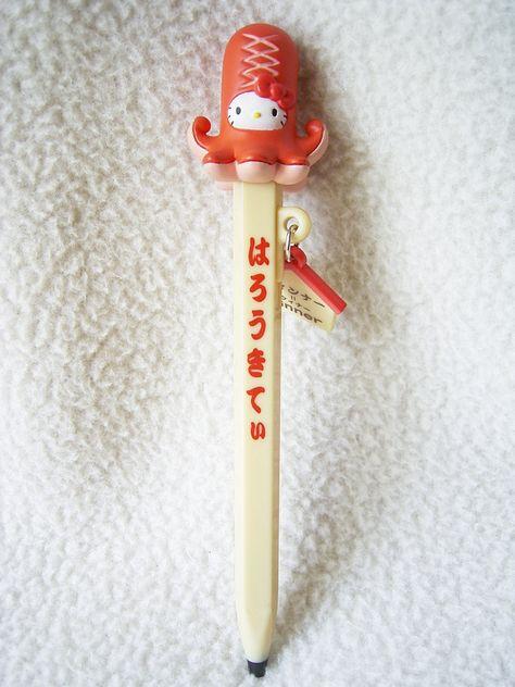 Hello Kitty Ballpoint Pen Chocolate shape Nostalgic Candy Shop Sanrio Japan