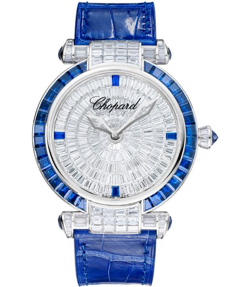 Chopard Imperiale watch in white gold, sapphires, diamonds