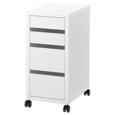 Ikea Cassettiera Con Rotelle.Micke Mobile Studio Angolare Bianco 100x142 Cm Drawer Unit