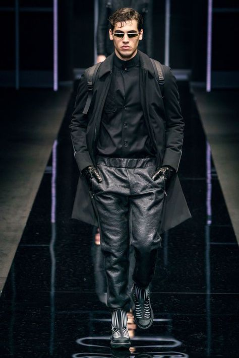 Emporio Armani FW 2019. Black is just one of our favorite colors. See more https://www.ambitious-shoes.com/ #fashion #clothes #shoes #style #menswear #outfit #streetfashion #mensfashion #streetstyle #Footwear #ambitious #design #leathershoes #ambitiousmood #ambitions #ambitiousshoes #colourfullshoes