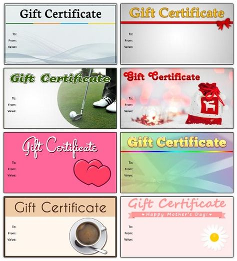 Gift Certificate Template 14 Templates Pinterest Gift - online gift certificate template