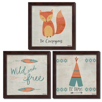 Stay Wild Moon Child Tribal Fox Lover Gift Picture Home Decor Poster No Frame