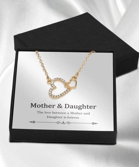 Mother And Daughter Necklace Gold