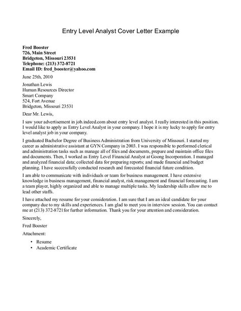 format cover letter for resume sample job example best examples - analyst cover letter