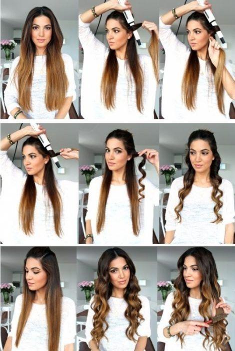 Resultado De Imagen Para Tutorial Ondular Pelo Con Tenaza Hair Waves Diy Hair Waves Waves Hair Tutorial