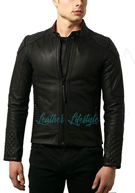 Laverapelle Mens Genuine Lambskin Leather Jacket Black, Bomber Jacket 1501478