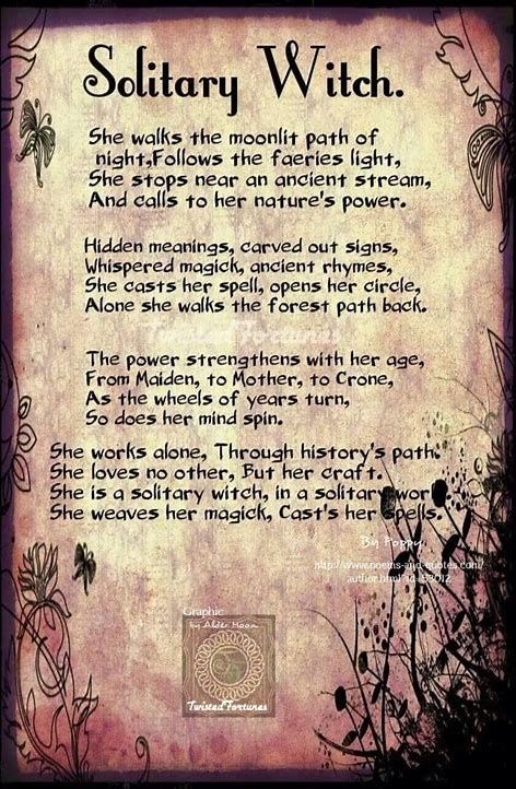 Image result for Types of Solitary Witches | me | Wiccan witch