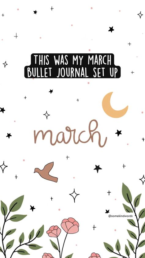 This was my March  bullet journal set up