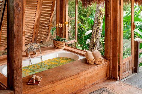 Estilo Tropical En Bali Estilo Tropical Bano Tropical Y Bano