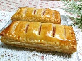 レンジ林檎&パイシートで簡単アップルパイ
