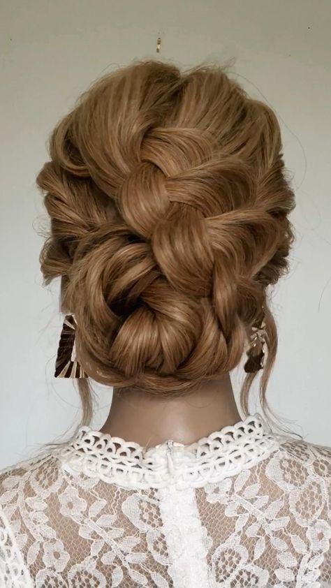 Beautiful Braided Bun 🤍 Sydney Hairstylist Annie Johnson