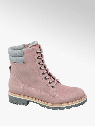 Schnürboots von Landrover in rosa DEICHMANN | Schuhe damen