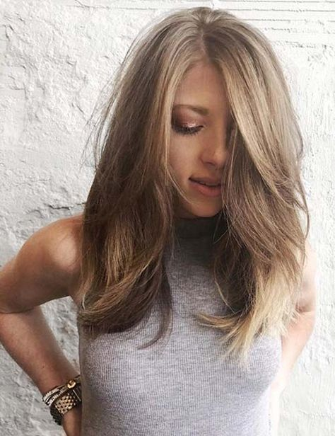 50 Stunning Medium-Length Haircuts And Styles For Thick Hair length hair. 50 Stunning Medium-Length Haircuts And Styles For Thick Hair length hair. Thick Hair Styles Medium, Medium Hair Cuts, Long Hair Cuts, Short Hair Styles, Medium Length Layered Hair, Layers For Thick Hair, Hair Layers Medium, Mid Length Hair With Layers, Layered Thick Hair