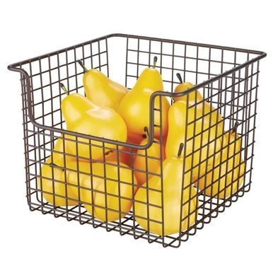 Metal Wire Kitchen Pantry Food Storage Basket 10 X 10 X 7 75 Kitchen Pantry Storage Baskets Food Storage