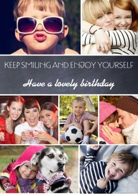 Upload Photos For The Perfect Personalised Photo Card 7 Photos Design Spo In 2020 Personalised Photo Cards Graphic Design Tutorials Diy Birthday Cards For Boyfriend