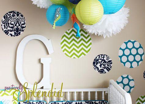 Love this!  Custom fabric wall decal tutorial