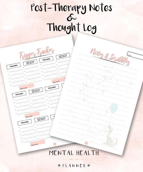 Mental Health Planner + 2019 Planner - Tickled Think Printables