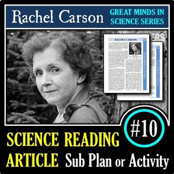 Rachel Carson - Science Article/Sub Plan #10 | Printable & Distance Learning