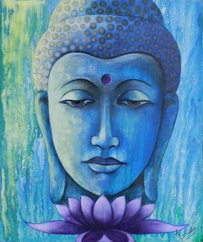 Oil Wall ArtWall Canvas ArtModern Abstract Asian Buddha PaintingBU031China Mainland