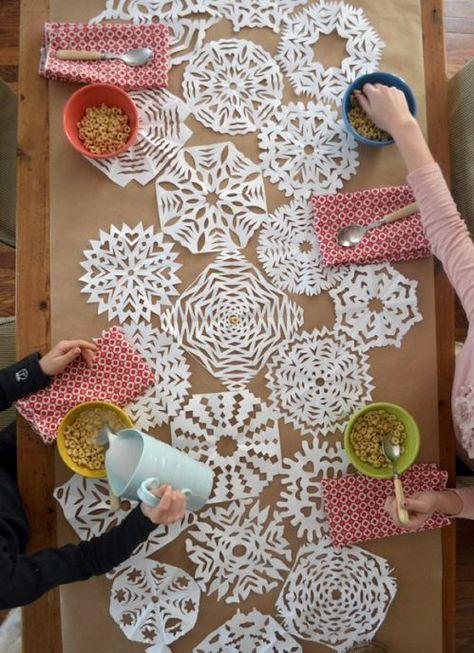 Cute DIY Table Runner:: Winter Table Runners #diy wedding
