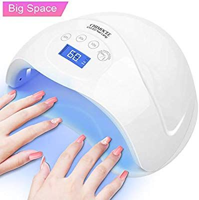Chimocee Uv Led Nail Lamp 48w Or 24w Super Size Curing Lamp With 4 Time Setting Mode Automatic Sensor Nail Dryer For Both Two Led Nail Lamp Nail Dryer Uv Led