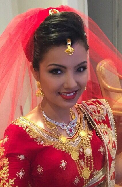 Nepali bride during the wedding ceremony
