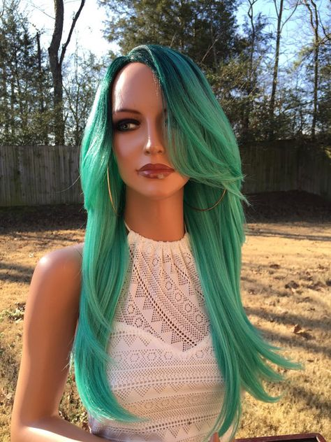 List Of Pinterest Green Hair Dark Roots Wigs Pictures Pinterest