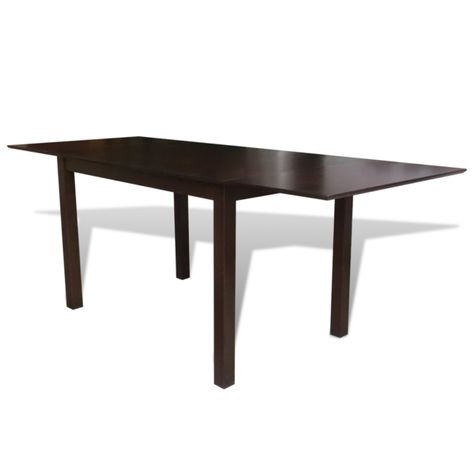 Vidaxl Table Extensible Marron 195 Cm En Bois Massif Table A